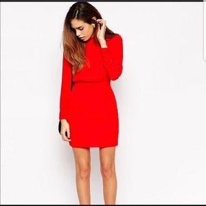Holiday Red ASOS mini dress 2P